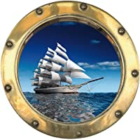 Youdesign H303 - Pegatina adhesiva de portilla al océano (30 x 30 cm)