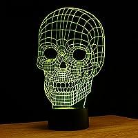 3D Skull Light Art variopinta di notte della lampada luce visione creativa illumina 101011 , (Superb Gioiello)