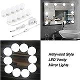 Hollywood estilo LED luces de espejo de tocador espejo luces con 10Bombillas de intensidad regulable y...