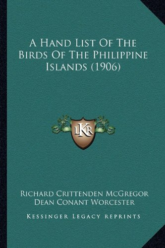 A Hand List of the Birds of the Philippine Islands (1906)