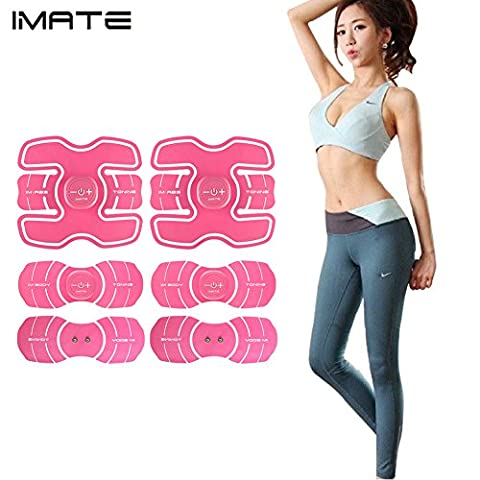 IMATE EMS 2017 New Version Abdominal Toning Belts Muscle Toner Electrical Belt Waist/Arm/Bottom/Thigh Trainer Belt, IMATE ABS Fitness Trainer Fitness Apparatus Support for Women