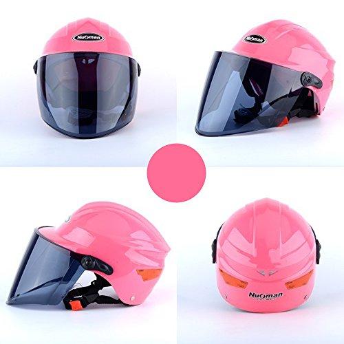Lidauto Motorrad Fahrrad Helme Hut Sommer Shorty Stilvolle Trendy für Männer Frauen,Pink