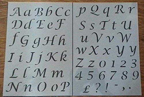 Design Schriftzug Alphabet Kunststoff Schablonieren Tabelle Old Fashioned Stil 003 ()