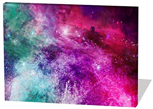 Das etwas andere Farbenspiel, Gemälde Effekt, schönes und hochwertiges Leinwandbild zum Aufhängen in XXL - 100cm x 70cm, echter Holzrahmen, effektiver Pigmentdruck, modernes Design für Ihr Büro oder Zimmer