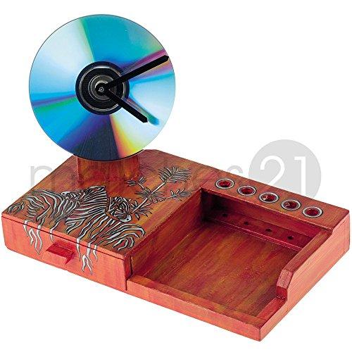 matches21 Büro-Set mit CD Quarz-Uhr 24x14x17 cm Bausatz f. Kinder Werkset Bastelset ab 11 Jahren