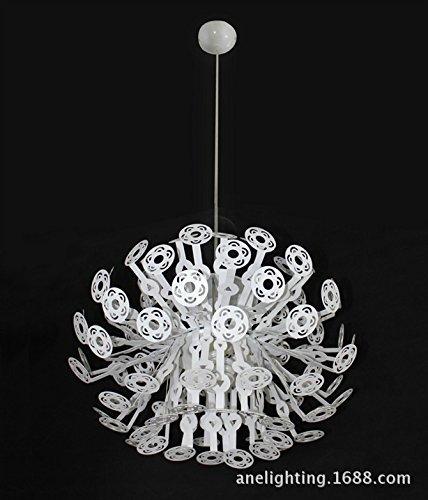 WCZ Personifizierte Dekorative Beleuchtung Einzelner Schwarzer Draht-Leuchter-Eisen-Hohles Gitter (50Cm),Weiß