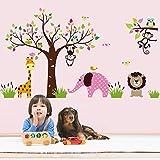 Süße Tiere Elefant Affe Eule Löwe Giraffe Spaß haben Rund