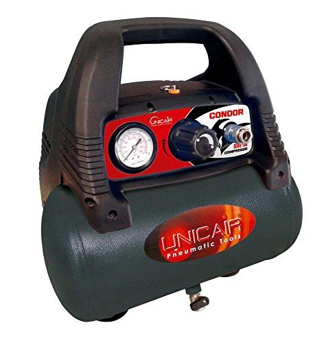 Unicair Compresor eléctrico sin aceite. 6 litros.1,5HP.