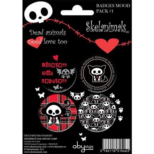 SKELANIMALS - My Heart For Yours Premium Button Set 4x Orginal & Lizensiert