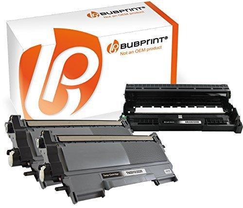 Bubprint 2x Toner kompatibel für TN-2220 TN2220 TN 2220 XXL TN-2010 TN2010 TN 2010 (2.600 S) & Trommel DR-2200 DR2200 DR 2200 für Brother DCP-7065dn