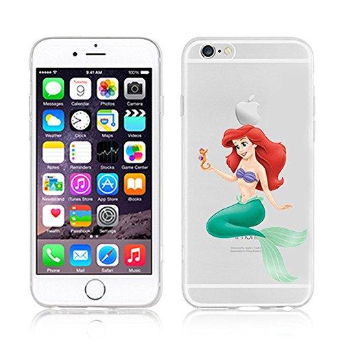 OB4me New Disney Princesses AREIL TRANSPARENT Clear TPU Soft CASE for Apple iPhone 7 - AREIL 4