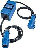 as - Schwabe MIXO Stromzähler/Zwischenzähler - Camping Zwischenstecker Box 230 V - geeicht und verblomt - CEE-Stecker und Kupplung - IP44 - Made in Germany I 61748, Blau