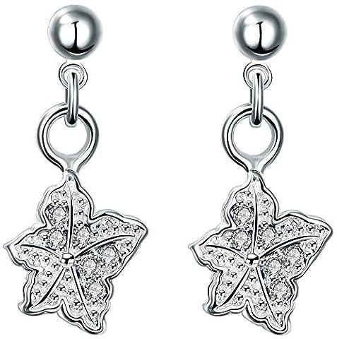 SaySure - AAA Crystal Punk 925 Silver Drop Dangle Earrings SE20