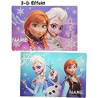 Preisvergleich für alles-meine.de GmbH 3-D Effekt Unterlage - Disney die Eiskönigin / Frozen - 42 cm * 29 cm - Ti..
