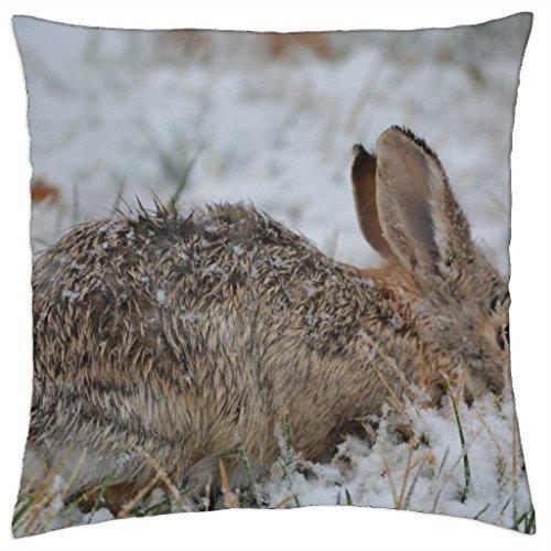 Snow Bunny - Throw Pillow Cover Case (16