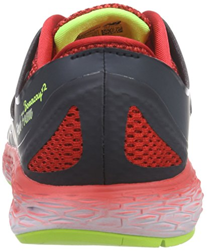 New Balance 487861-60, Running Homme Nero (Black Red D)
