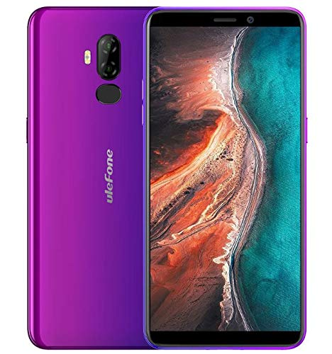 【2019】 Ulefone P6000 Plus, téléphone Portable debloqué 4G Dual SIM (Grande Batterie de 6350mAh et Charge Rapide) - Écran de 6,0 Pouces Android 9.0 - Quad-Core 3 Go + 32 Go Face ID GPS OTG crépuscule