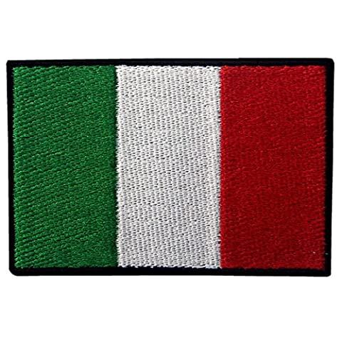 Applique Brodée De Drapeau De l'Italie Fer
