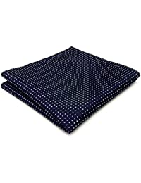 "shlax&wing Men's Pocket Square Dots Azul Navy 12.6"" New Pañuelos"