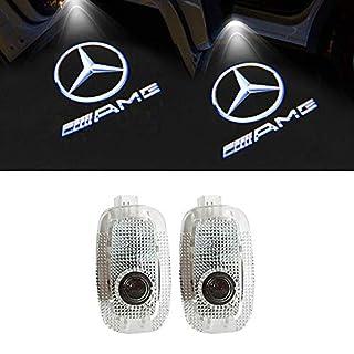 LIKECAR 2pcs einstiegsbeleuchtung auto projektor Willkommen Logo Tür schießen Licht (S-AMG)