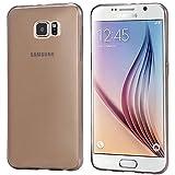 tomaxx Hülle Samsung Galaxy S6 Edge+ Slim Super dünn Schutzhülle transparent schwarz