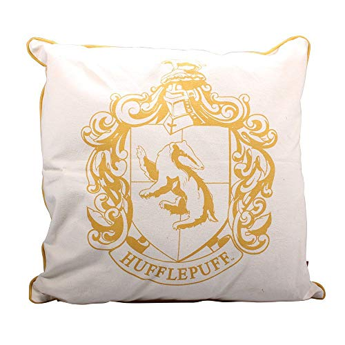 Phantastische Tierwesen Harry Potter - Deko Kissen - Hufflepuff Wappen Logo - 46 x 46 cm - - Kissenbezug Eule Kostüm