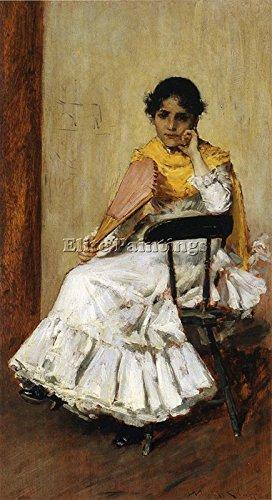 CHASE SPANISH GIRL PORTRAIT SPANISH DRESS BILDER BILD GEMALDE MALEREI KUNST 120x60cm HOCHWERTIGER