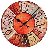 perla pd design Horloge murale style shabby chic Diamètre : 28 cm
