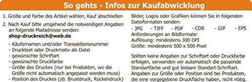 Hunde Wende- Halstuch (Fb: rot-orange) (Gr.1 – HU bis 29 cm) mit Ihrem Wunschtext - 3