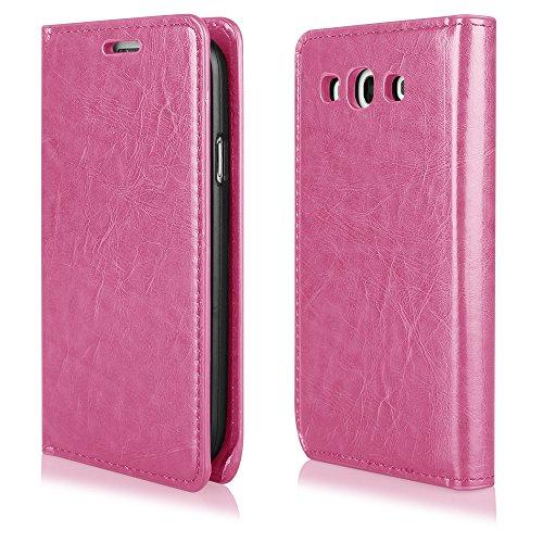 Ego ® étui de protection à rabat pour téléphone portable iPhone étui de porte avec fermeture aimantée, Cuir synthétique, vert, Pour Galaxy S4 i9500 rose bonbon