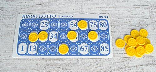 Bingo-Lotterie-Brettspiel-Spielzeug-Lotto-Blle-Kfig-Familie-Zhler-1556