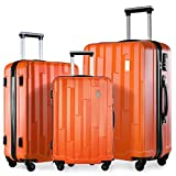 Merax ® Lightweight 4 Wheel ABS Hard Shell Luggage Suitcase Travel Trolley Set of 3