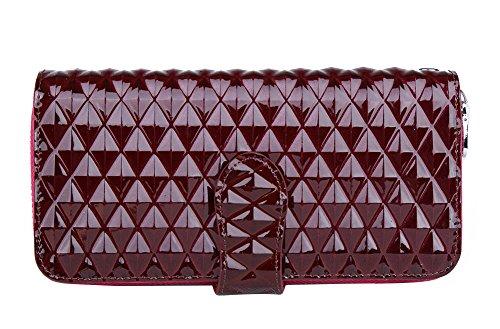 Genda 2Archer Moda in Pelle Clip Portafoglio Borsa Delle Donne (19cm*3.8cm*9.8 cm) (Rosso 2) Rosso 2