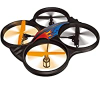 "Haktoys HAK907 2.4GHz 4 Channel 17"" RC Quadcopter, 6 Axis Gyroscope, Loop Function, LED Light, and Camera-Ready (Camera not Included) (Does NOT Require Drone Registration)"