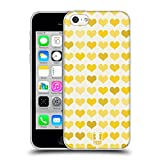 Head Case Designs Gelb Phantastische Herzen Soft Gel Hülle für Apple iPhone 5c