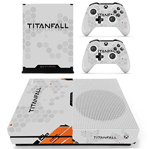 Preisvergleich Produktbild XBox One Slim + 2 Controller Aufkleber Schutzfolien Set - Titanfall (1) / One S