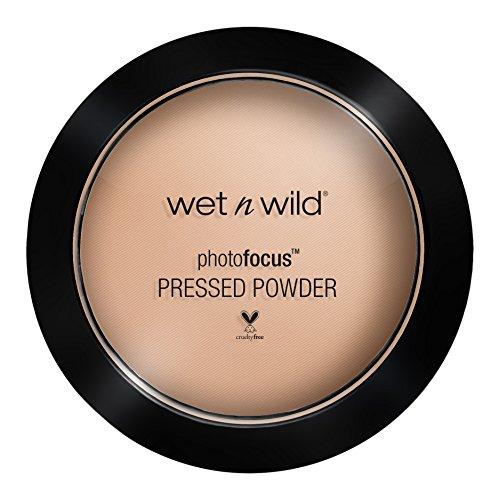 Wet N Wild - PhotofocusTM Pressed Powder - Puder mit lichtreflektierenden Pigmenten, Neutral Beige, 1 Stk. 40g -