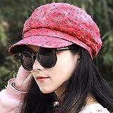 XINSU Home Chapeau féminin comme Un Bonnet octogonal à l'Ancien Journal à l'Ombre des Casquettes Fashion Cap culminant au béret Printemps, été et Automne Graphiques Minces