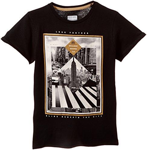 Deeluxe - Slide, T-shirt per bambini e ragazzi, nero (schwarz - schwarz), 10 anni (Taglia produttore: 10)