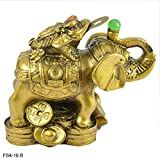 Reiki Crystal Products Vastu - Feng Shui Elephant With Frog For Wealth, Strength, Wsdom And Success