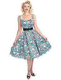 Hearts & Roses FLAMINGO Sweetheart Vintage Tropical Dress KLEID Rockabilly