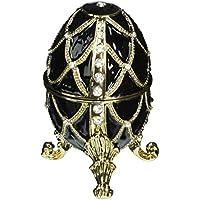 Progettazione Toscano FH8772 oro Trellis Faberge-Style smaltato Uova Statue - Ebene Egg