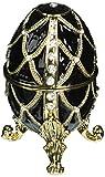 Design Toscano FH8772 Œuf de Romanov émaillé aux Treillis de diamants Multicolore 7,5 x 7,5 x 10 cm