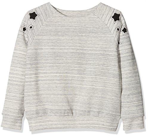 NAME IT Mädchen Sweatshirt Nkfjatar Unb Swe, Rosa (Grey Melange), 140 (Herstellergröße: 134-140)