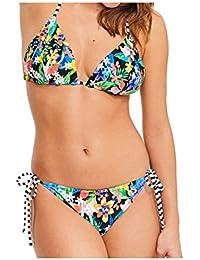 0397e55abdb88 Figleaves Womens Puzzle Reversible Triangle Bikini Top Blue