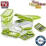 Genius Nicer Dicer Smart | 14 Teile | Obstschneider | Zwiebelschneider | Pommesschneider | Tomatenschneider | Gemüseschneider | Bekannt aus TV | NEU
