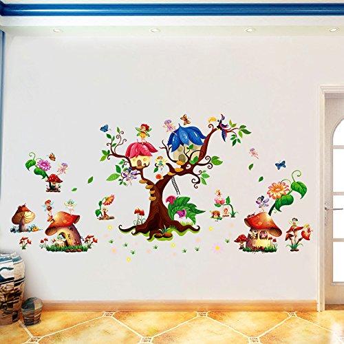 1936 König (JinTie Wall Sticker art Dekorationen wasserdicht Wand Papier Tapete selbstklebende Blume Blüte Fairy Cartoon Kinderzimmer Kindergarten ca. 65 cm * 140 cm, König gekennzeichnet)