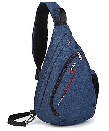 Olanstar Sport-Rucksack Schultertasche Umhängetasche Daypack für Wandern, Reisen, Schule, Fahrrad (Blau)