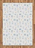 ABAKUHAUS Olandese Moquette Tessuta Piatta, Biciclette Classic Zoccoli, per Soggiorno Camera da Letto Sala da Pranzo, 160 x 230 cm, Arancio Navy Blue E Bianco