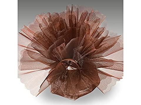 Organza Tulle Circles Crystal Pack of 50 Standard Brown
